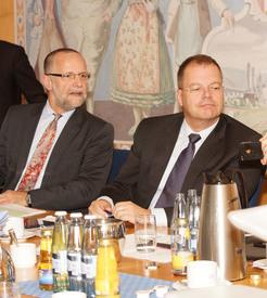 Bild:Thomas Kirchberg und Wolfgang Heer, Mitglieder des Vorstandes der Südzucker AG